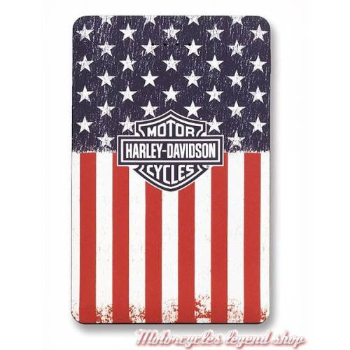 Batterie de secours Americana Flag, port USB, 3000 mAh, Harley-Davidson 7836