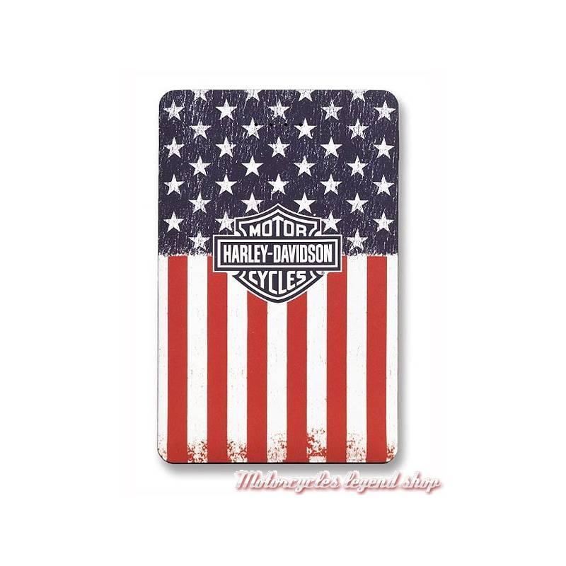 Batterie de secours Americana Flag, port USB, 3000 mAh, Harley-Davidson 7836