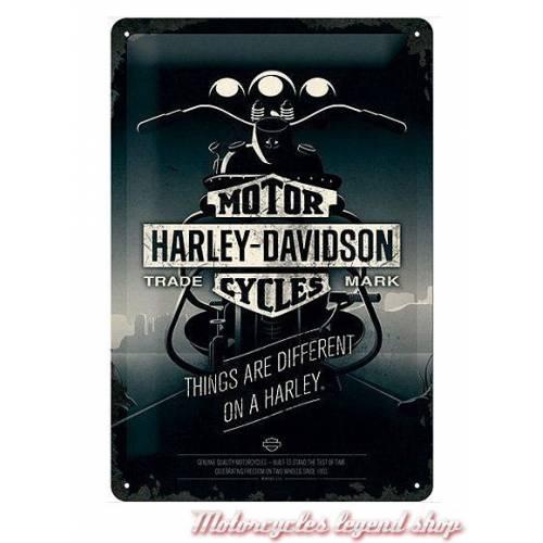 Plaque métal moto Harley-Davidson, 20 x 30 cm, rétro, Harley-Davidson 22256