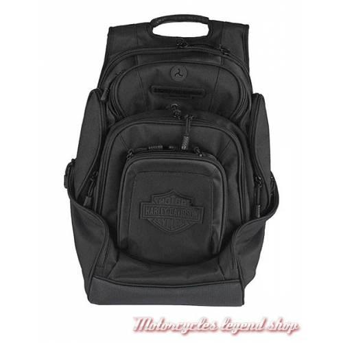 Sac à dos Bar & Shield Delux Harley-Davidson, nylon, noir, BP2000S-BLKBLK
