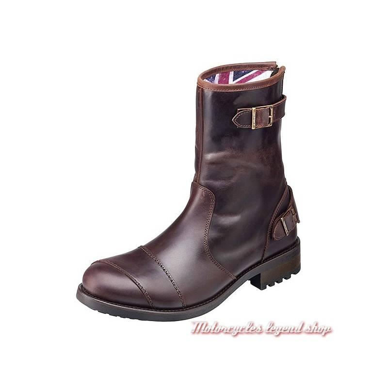 Boots Dadlington Triumph homme, cuir marron vintage, zip arriere, MBTS17317