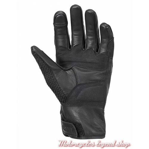 Gants cuir & mesh Harpton Triumph homme, noir, protections, MGVS17114