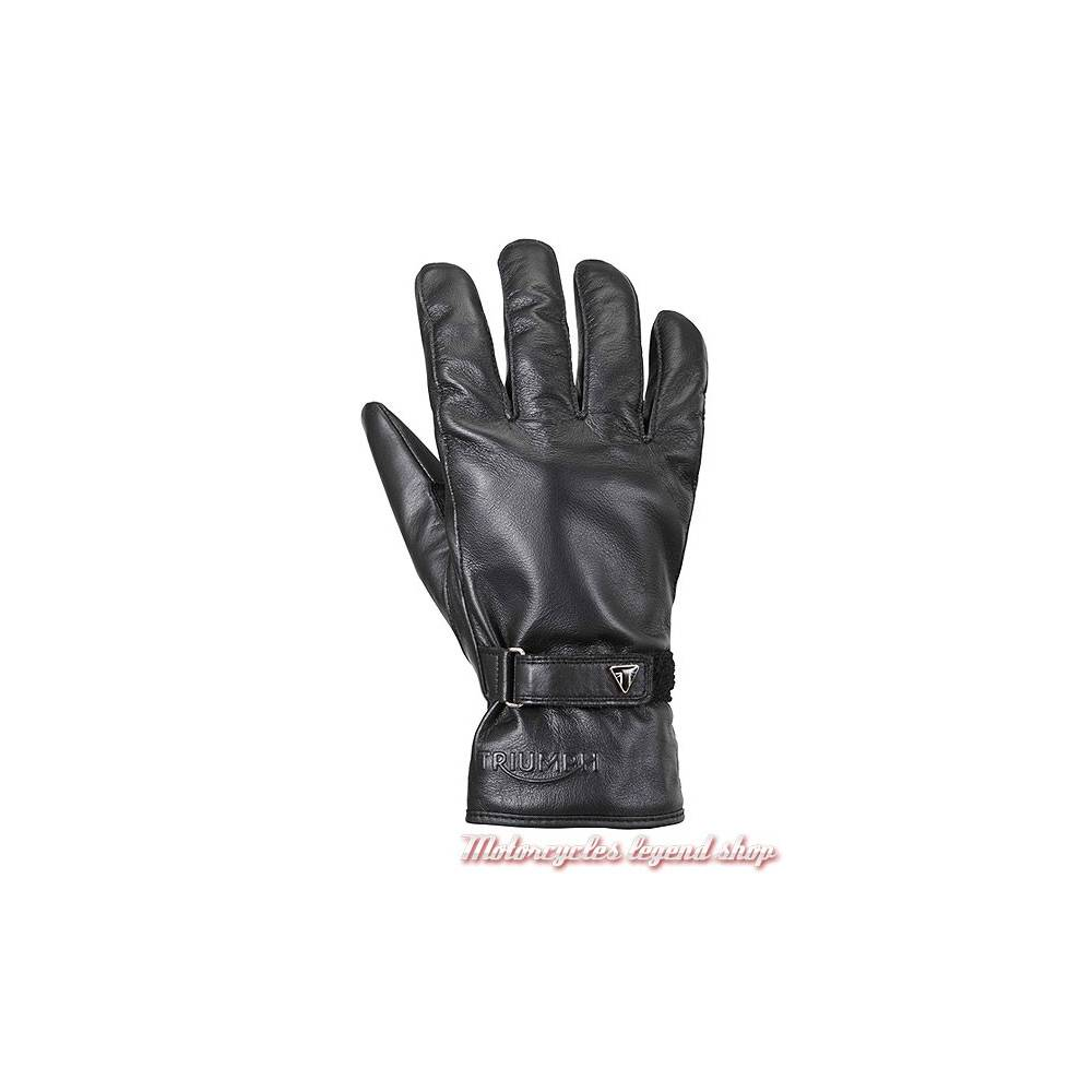 Gants cuir Steward Triumph homme, noir, tritex waterproof, MGVS17318