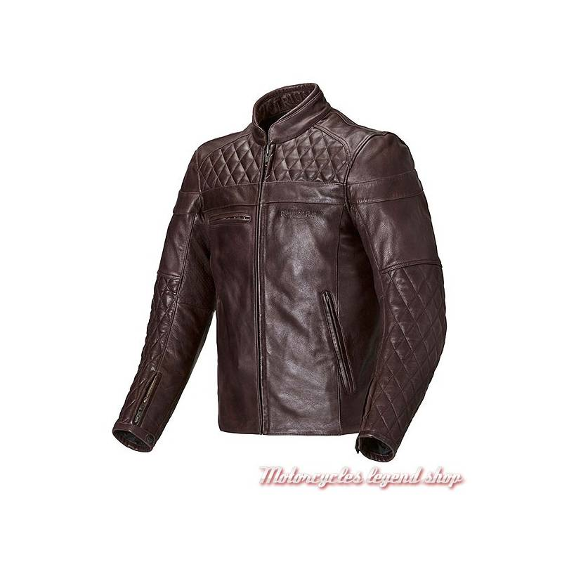 blouson cuir moto homme triumph v tements l gants modernes. Black Bedroom Furniture Sets. Home Design Ideas