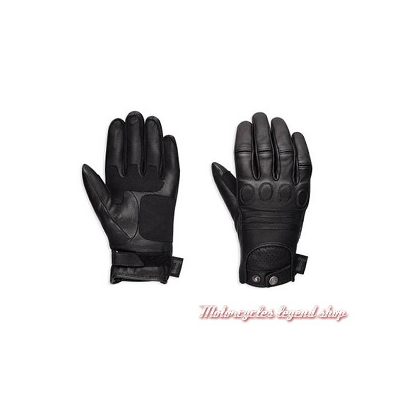 Gants cuir One Skull Harley-Davidson femme, noir, homologués, 98375-17EW