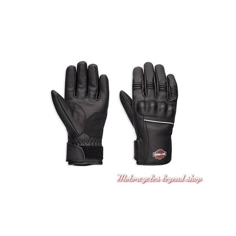Gants Classic Harley-Davidson femme, noir, cuir PU, imperméable, 98374-17EW