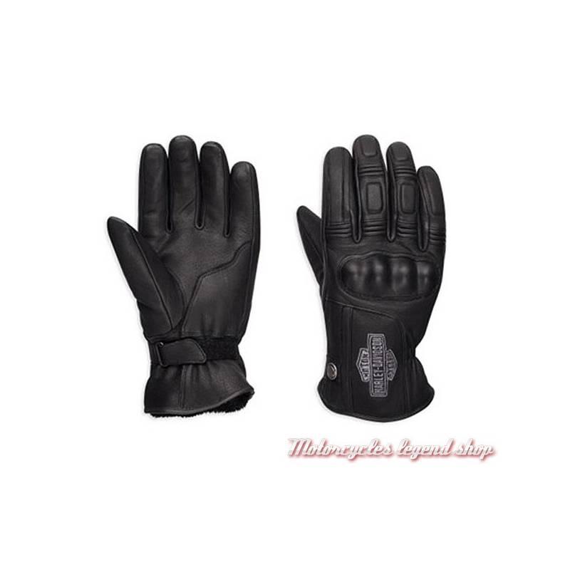 Gants Urban Harley-Davidson homme, cuir noir, imperméable, homologués, 98359-17EM