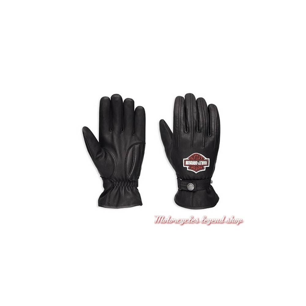 Gants cuir Enthusiast Harley-Davidson homme, noir, imperméable, homologués, 98356-17EM