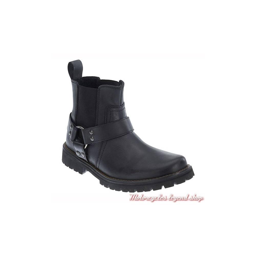 Boots Duran Harley-Davidson homme, cuir noir, fermeture élastique, D93359