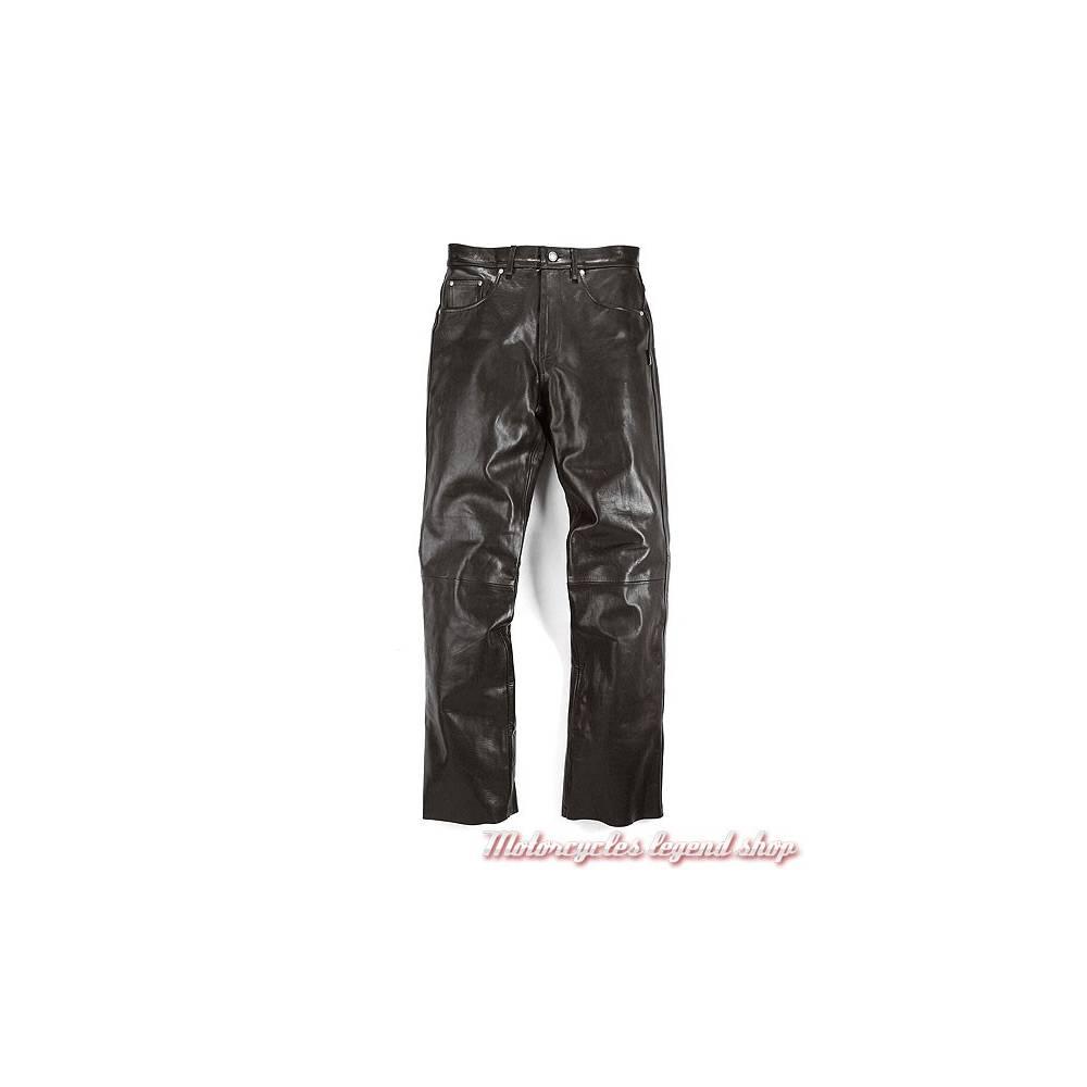 Pantalon Corden cuir Helstons homme, noir, étanche, coupe jean