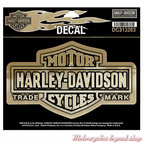 Sticker Nostalgic Bar & Shiled Harley-Davidson, effet cuivré, DC313263