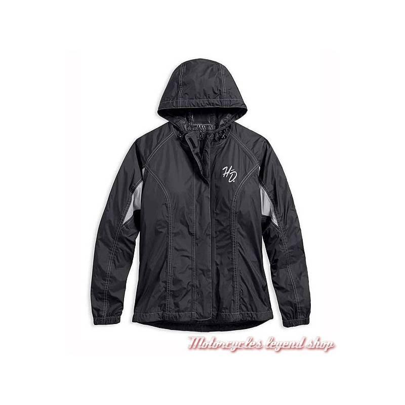 Veste pluie femme noire
