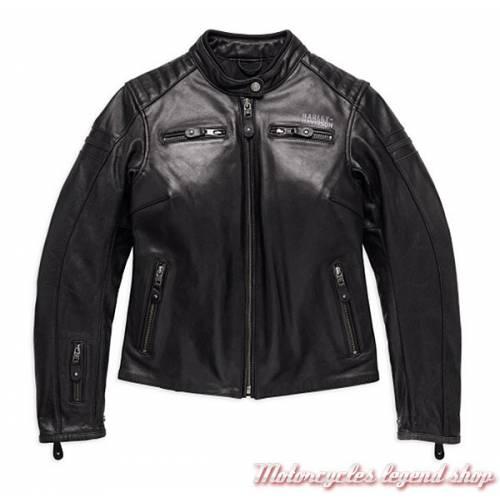 Blouson cuir One Skull Harley-Davidson femme