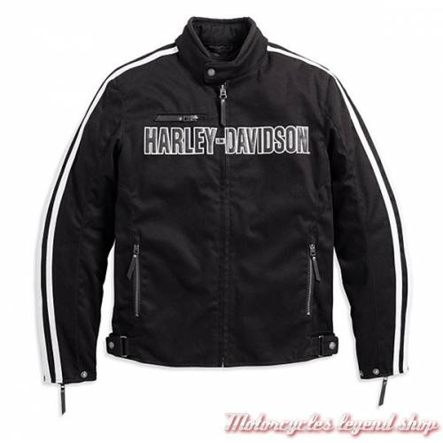 Blouson textile Rally Harley-Davidson, homme, noir, coton, polyester, homologué CE, 98163-17EM