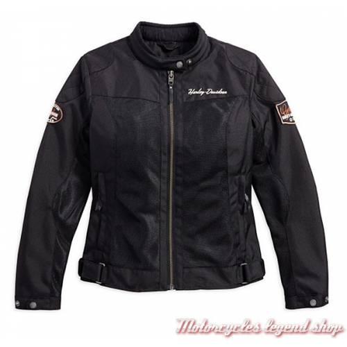 Blouson Mesh Bar & Shield Harley-Davidson femme, noir, léger, homologué, 98169-17EW