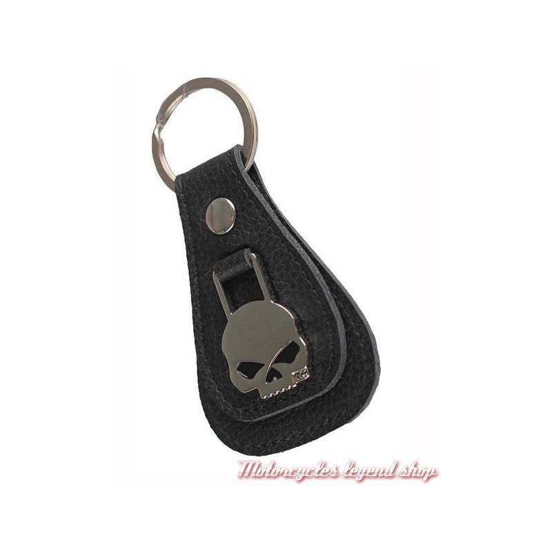 Porte Clés Cuir Skull HarleyDavidson Motorcycles Legend Shop - Porte clé cuir