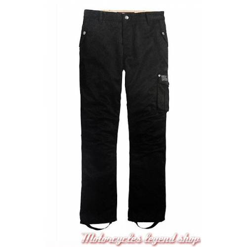 Pantalon technique Cargo Harley-Davidson, homme, toile, noir, homologué CE, 98166-17EM
