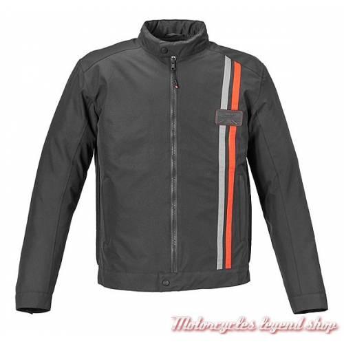 Blouson textile Fosse Triumph, homme, noir, polyester sympatex, waterproof, MTPS17104