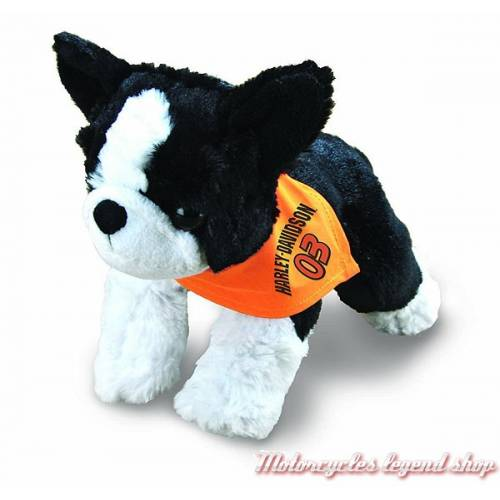 Peluche Boston Terrier Harley-Davidson