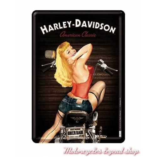 Carte postale métal Biker Babe Harley-Davidson
