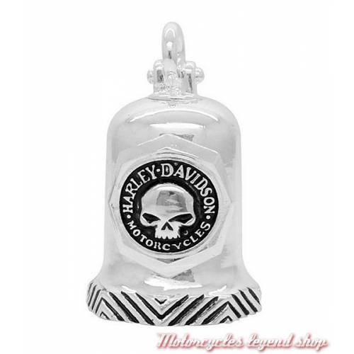 Clochette H-D Skull Willie G., métal argenté, Harley-Davidson HRB082