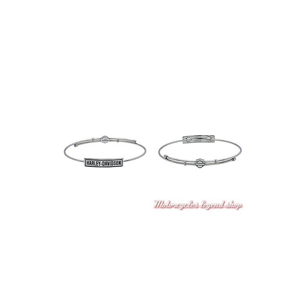 Bracelet acier Harley-Davidson femme, Harley-Davidson HSB0019