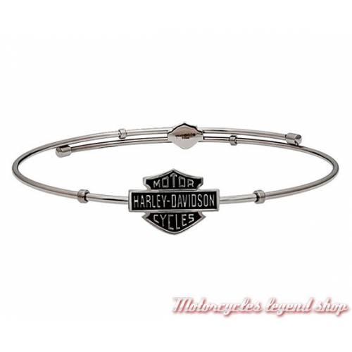 Bracelet acier Bar & Shield Harley-Davidson femme