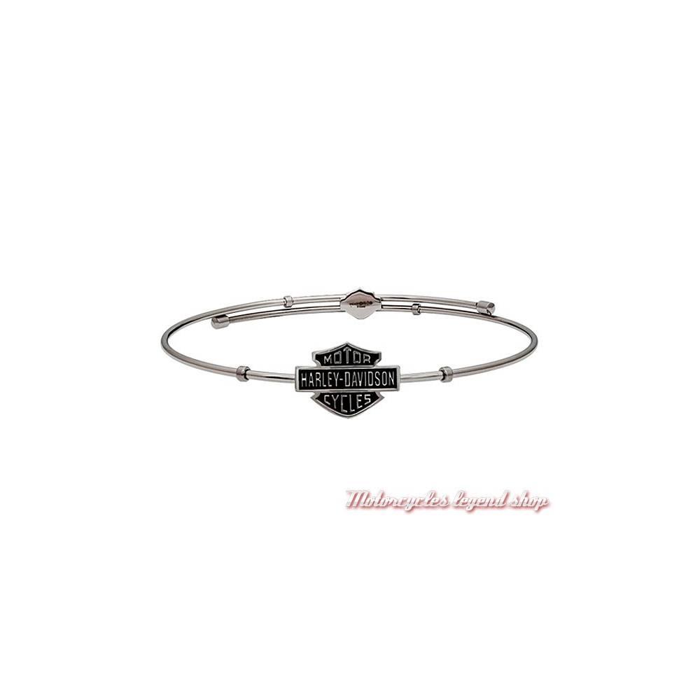 Bracelet acier Bar & Shield Harley-Davidson femme, Harley-Davidson HSB0088