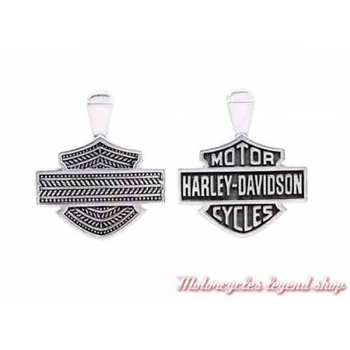 Collier argent B&S Harley-Davidson mixte
