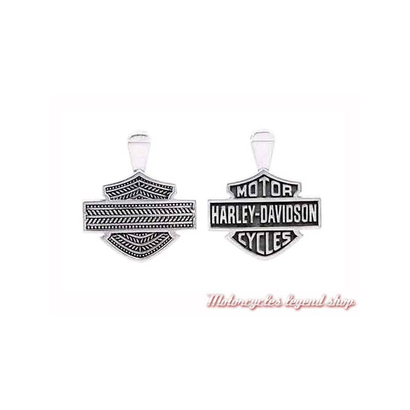 Collier argent B&S Harley-Davidson mixte, chaine argent, HDP0061 et HDCH002