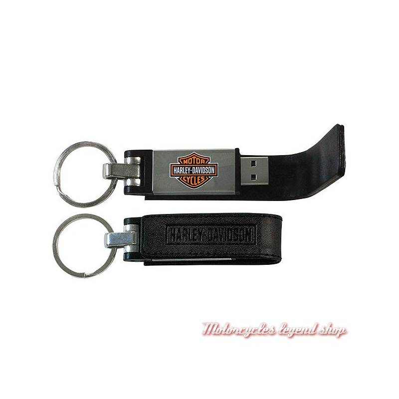 Porte Clés Cuir USB GB HarleyDavidson Motorcycles Legend Shop - Porte clef cuir