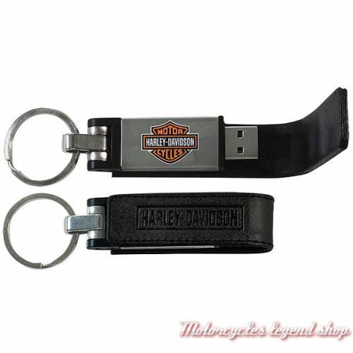 Porte clés cuir USB 8 GB Harley-Davidson, noir  KY51664