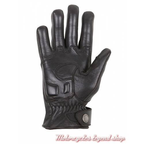 Gant cuir Lightning été Helstons femme, noir, kevlar, coque carbone