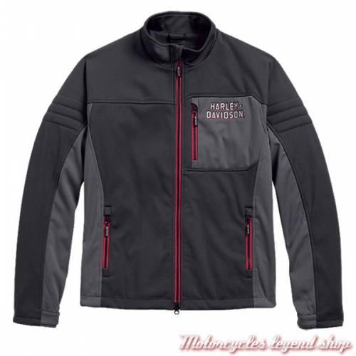 Veste Performance polaire Furor Harley-Davidson, homme, coupe vent, noir, gris, polyester, 97423-17VM