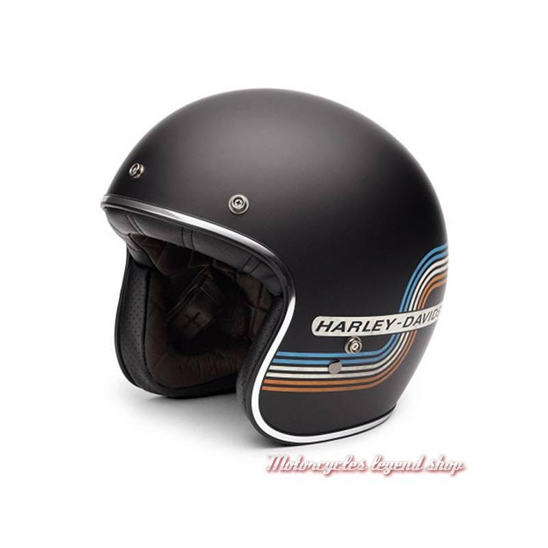 Casque Jet Retro Tank Harley-Davidson mixte, noir mat, 98206-17EX