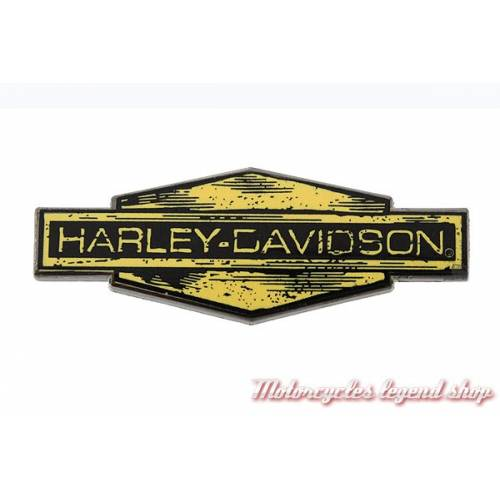 Pin's Harley-Davidson, metal noir et jaune, 241348