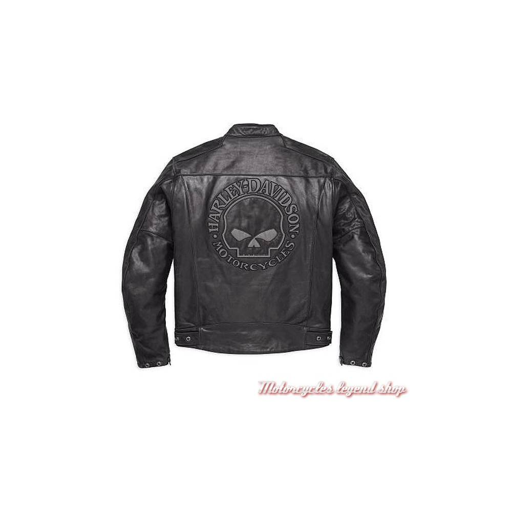 blouson cuir skull reflective harley davidson motorcycles legend shop. Black Bedroom Furniture Sets. Home Design Ideas