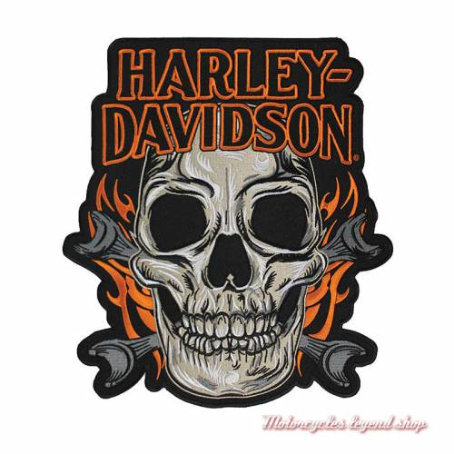 Patch Skull Mouth Harley-Davidsonbrodé, grand modèle, EM196667