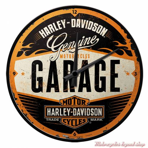 Horloge Garage Harley-Davidson murale, 31 cm, 51083