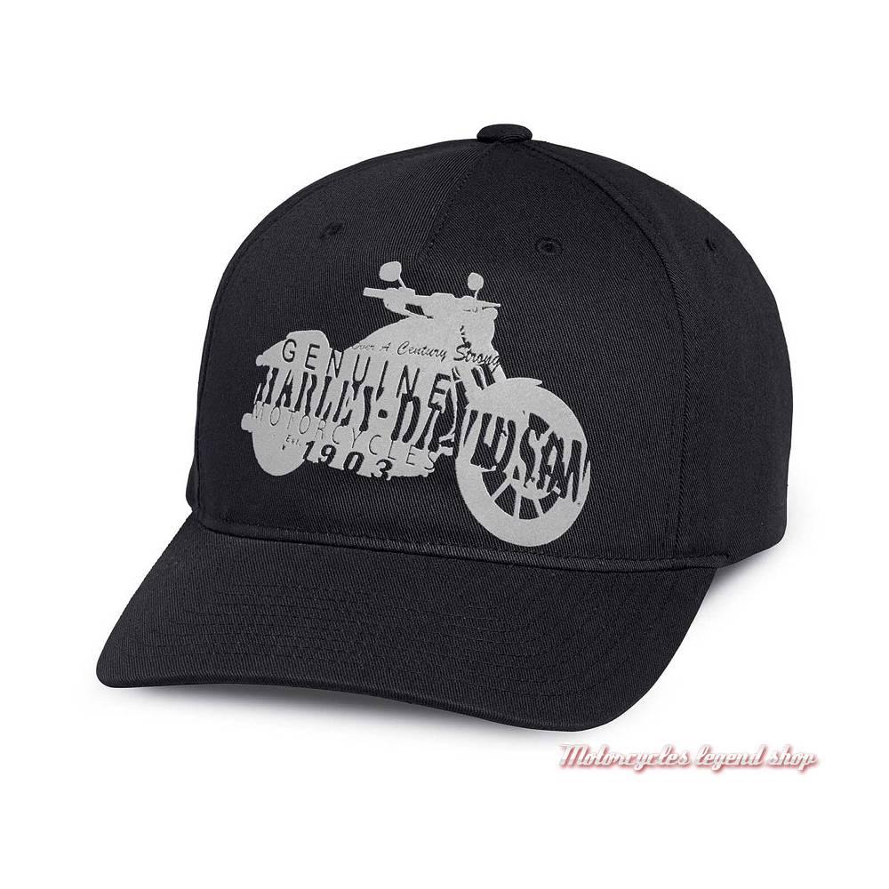 Casquette Motorcycle Silhouette, homme, coton, noire, réglable, Harley-Davidson 97673-18VM