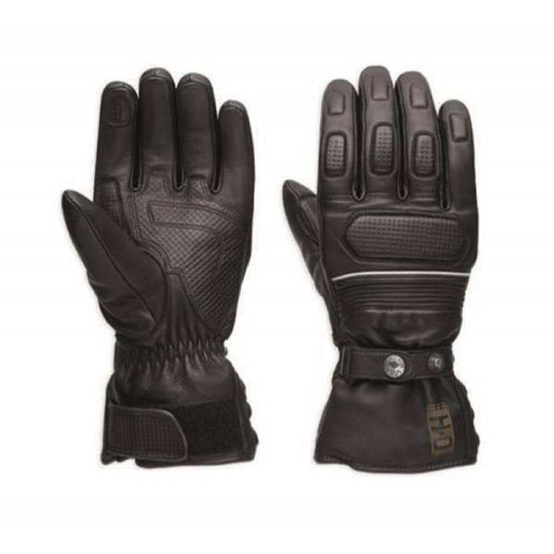 Gants cuir Wheeler Harley-Davidson homme, waterproof, noir, homologués, 97352-17EM