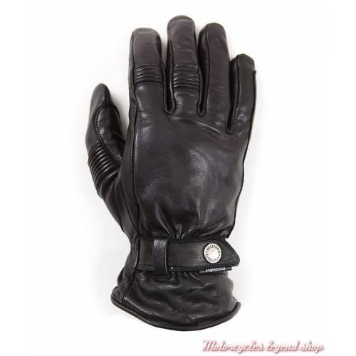 Gants cuir Boston homme, noir, vintage, Helston's