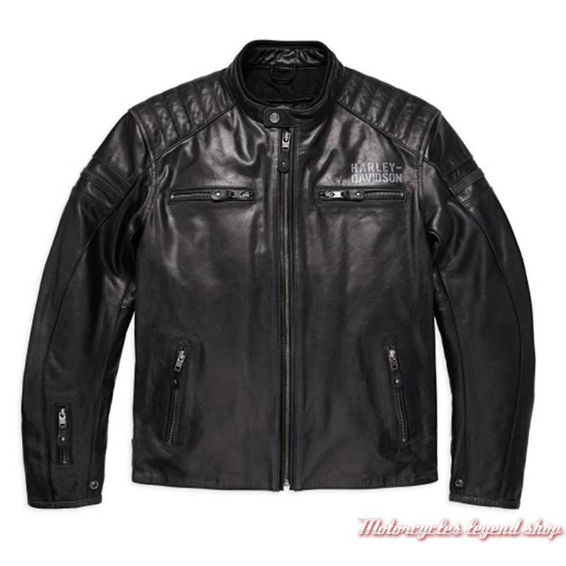 Blouson cuir One Skull Harley Davidson homme Motorcycles Legend shop