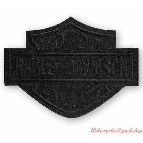 grand Patch Bar & Shield Black Harley-Davidson, noir, EM302304