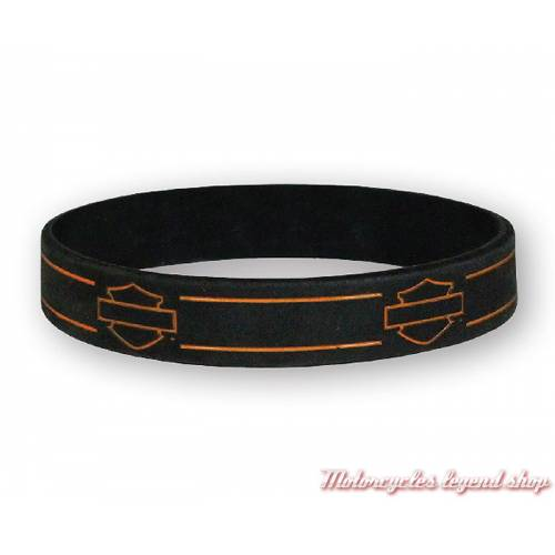 Bracelet silicone Bar & Shield Harley-Davidson