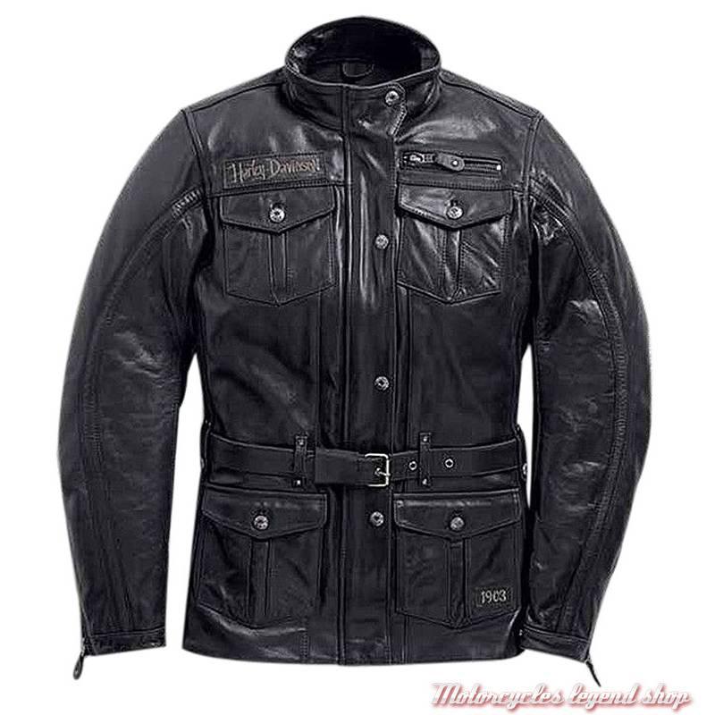 da353999279bf Veste 3/4 cuir Richards Harley-Davidson femme - Motorcycles Legend shop