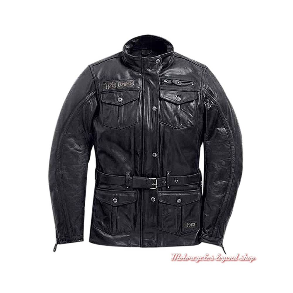 énorme réduction 6835d 2e816 Veste 3/4 cuir Richards Harley-Davidson femme