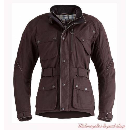 Blouson textile Oxblood Barbour Triumph, homme, bordeaux, coton waxé, MTHA17102
