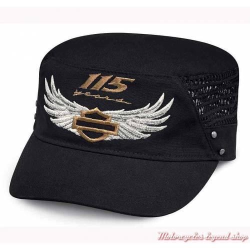 Casquette Flat Top 115th Anniversary Harley-Davidson femme