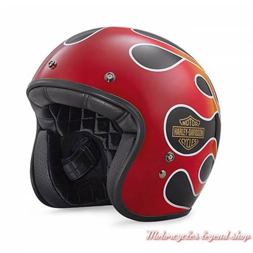 Casque Jet Retro Flame Harley-Davidson